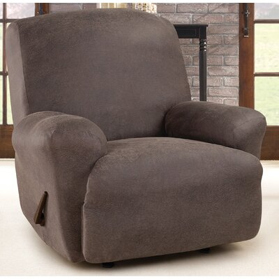 Ultimate Stretch Box Cushion Recliner Slipcover Upholstery: Weathered Saddle