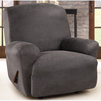 Ultimate Stretch Box Cushion Recliner Slipcover Upholstery: Antiqued Slate