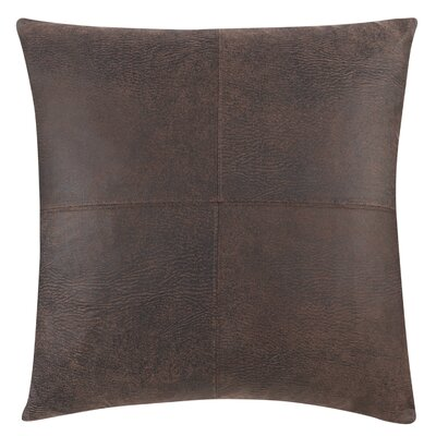 Ultimate Stretch Faux Leather Throw Pillow Color: Weathered Saddle