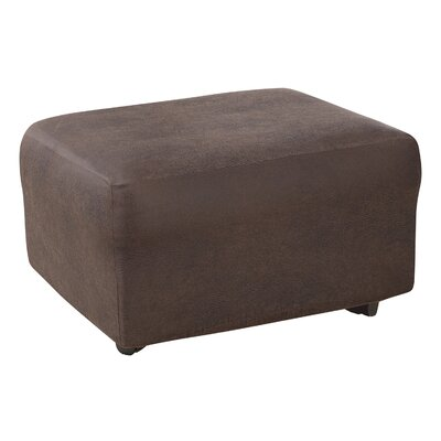 Ultimate Stretch Ottoman Slipcover Upholstery: Weathered Saddle