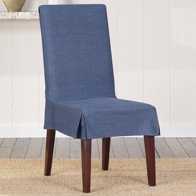 Sure Fit Authentic Denim Shorty Parson Chair Slipcover - Color: Indigo