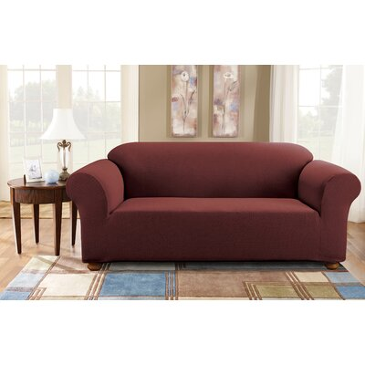 Simple Stretch Subway Sofa Slipcover Upholstery: Burgundy
