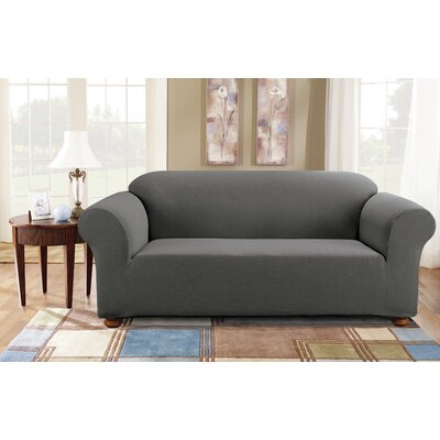 Simple Stretch Subway Sofa Slipcover Upholstery: Gray