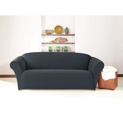 Box Cushion Sofa Slipcover Upholstery: Storm Blue