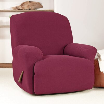 T-Cushion Recliner Slipcover Upholstery: Burgundy