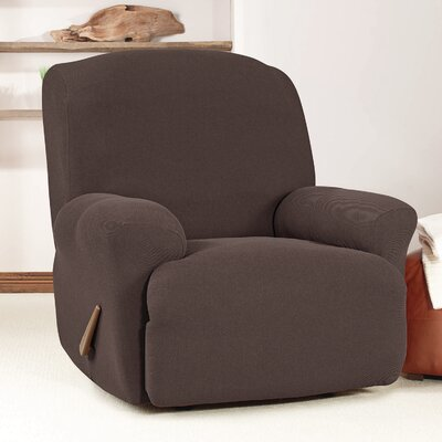 Recliner Slipcover Upholstery: Chocolate