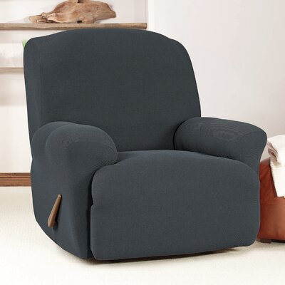 T-Cushion Recliner Slipcover Upholstery: Storm Blue