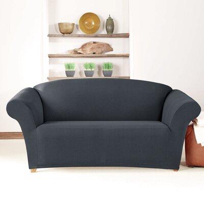 Loveseat Slipcover Upholstery: Storm Blue
