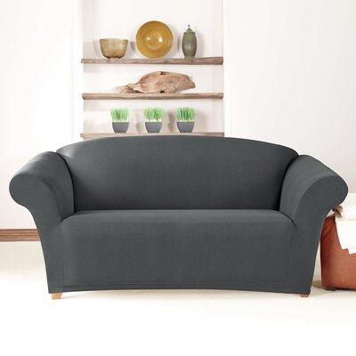 Loveseat Slipcover Upholstery: Carbon Gray