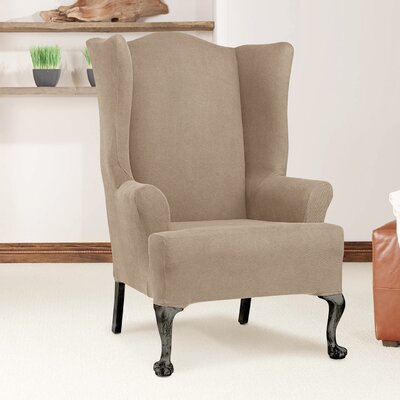 Arm Chair T-Cushion Slipcover Upholstery: Taupe