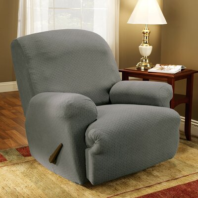 Simple Stretch Subway T-Cushion Recliner Slipcover Upholstery: Gray