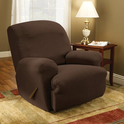 Simple Stretch Subway T-Cushion Recliner Slipcover Upholstery: Chocolate