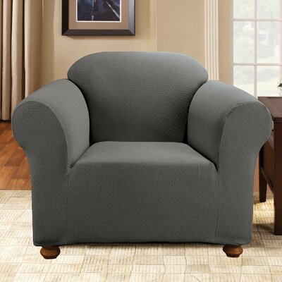 Simple Stretch Subway Armchair Slipcover Upholstery: Gray