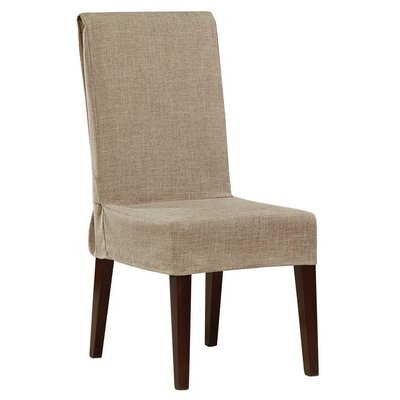 Shorty Dining Chair Slipcover Upholstery: Sand