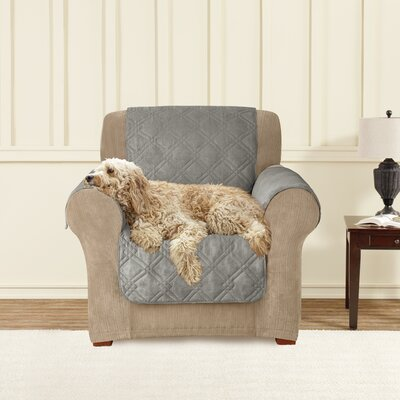Box Cushion Armchair Slipcover Upholstery: Dark Grey