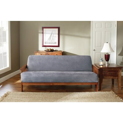 Soft Suede Futon Slipcover Upholstery: Smoke Blue