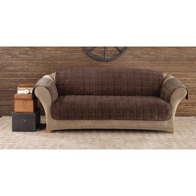 Deluxe Pet Box Cushion Sofa Slipcover Upholstery: Chocolate