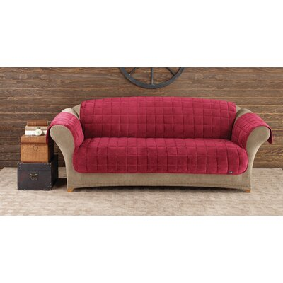 Deluxe Comfort Box Cushion Sofa Slipcover Upholstery: Burgundy