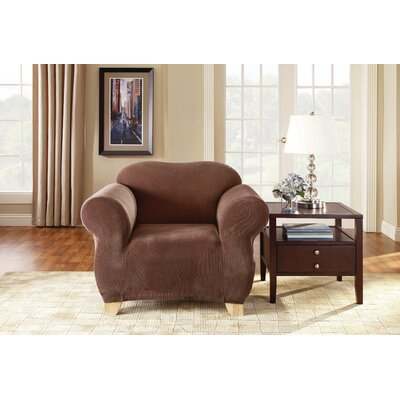 Pique Separate Seat Box Cushion Armchair Slipcover