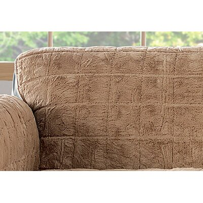Box Cushion Loveseat Slipcover Upholstery: Blonde