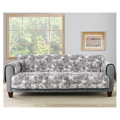 Faux Fur Quilted Loveseat Slipcover