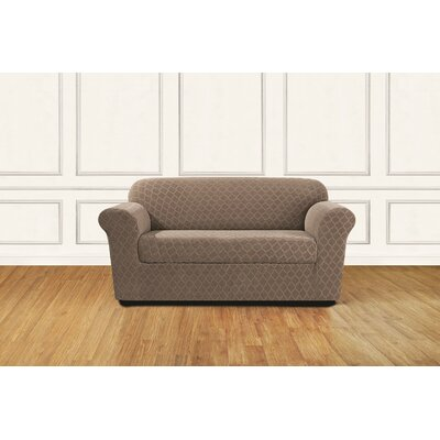 Stretch Grand Marrakesh 2 Piece Slipcover Upholstery: Desert Sand
