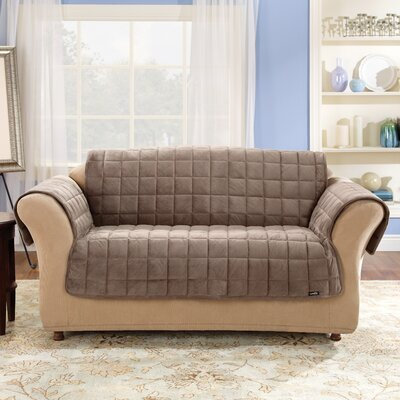 Deluxe Pet Box Cushion Sofa Slipcover Upholstery: Sable