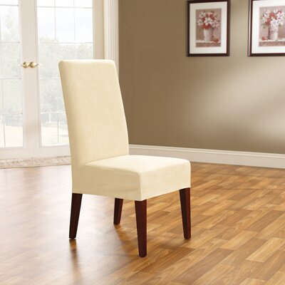 Soft Suede Dining Chair Slipcover Upholstery: Cream
