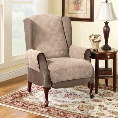 Soft Suede Recliner Slipcover Upholstery: Taupe