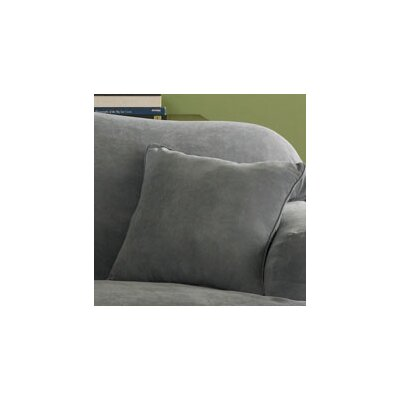 Soft Suede Self Cord Throw Pillow Color: Smoke Blue