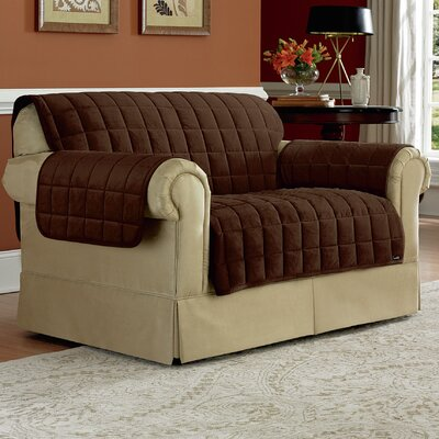 Deluxe Pet Loveseat Slipcover Upholstery: Chocolate