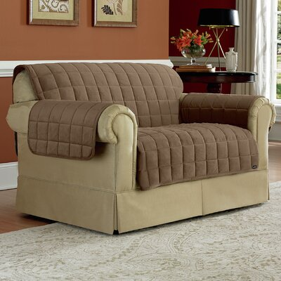 Deluxe Pet Loveseat Slipcover Upholstery: Sable