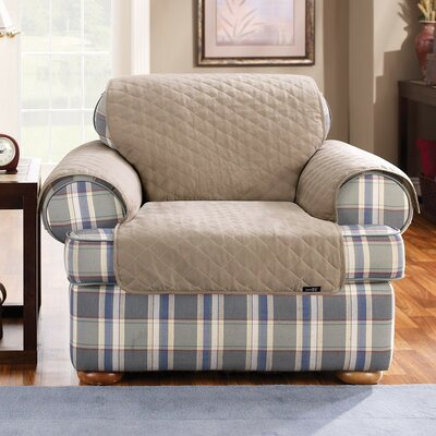 Cotton Duck Armchair Slipcover Upholstery: Linen