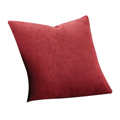 Stretch Pique 100% Cotton Throw Pillow (Set of 2) Fabric: Claret