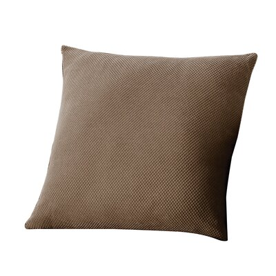 Stretch Pique 100% Cotton Throw Pillow (Set of 2) Fabric: Taupe