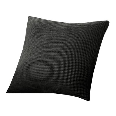 Stretch Pique 100% Cotton Throw Pillow (Set of 2) Fabric: Black