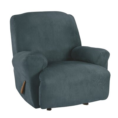 Recliner T-Cushion Slipcover Upholstery: Peacock Blue