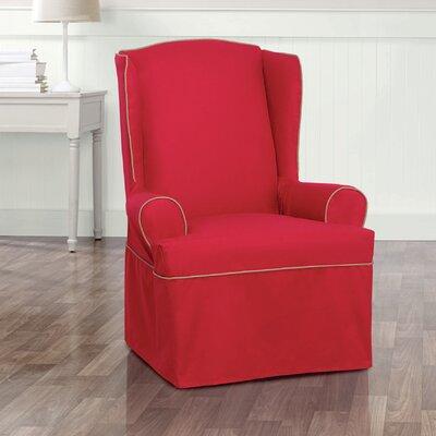Monaco Armchair Slipcover Upholstery: Red/Khaki