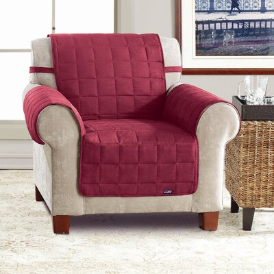 Soft Suede Box Cushion Armchair Slipcover