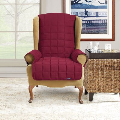 Soft Suade Wing Chair T-Cushion Slipcover