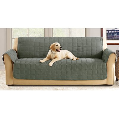 Box Cushion Sofa Slipcover Color: Loden