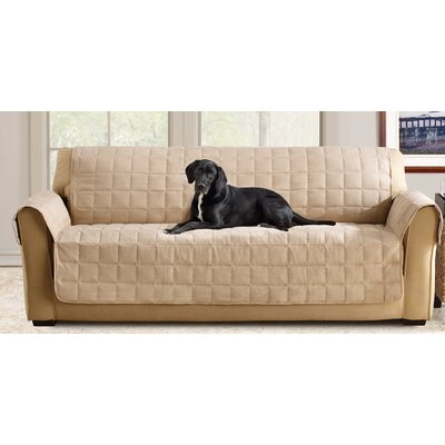 Box Cushion Sofa Slipcover Color: Taupe