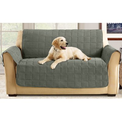 Box Cushion Loveseat Slipcover Color: Loden