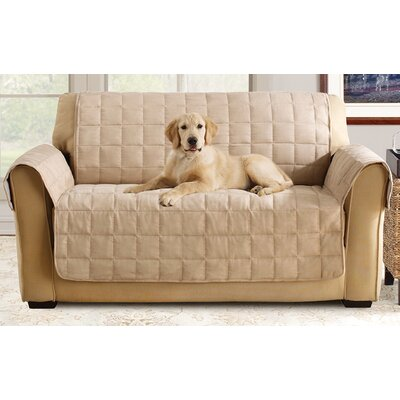 Box Cushion Loveseat Slipcover Color: Taupe