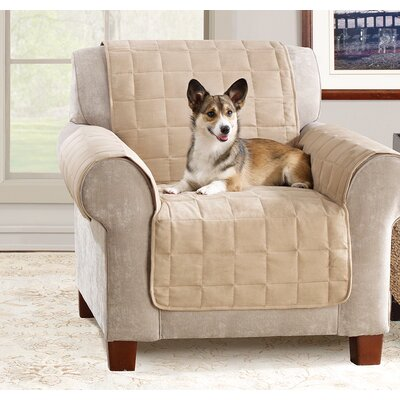 Box Cushion Armchair Slipcover Color: Taupe