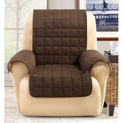 Box Cushion Recliner Slipcover Color: Chocolate