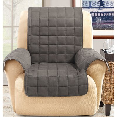 Box Cushion Recliner Slipcover Color: Gray