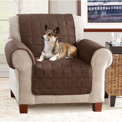 Box Cushion Armchair Slipcover Color: Chocolate