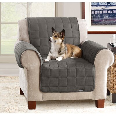 Box Cushion Armchair Slipcover Color: Gray