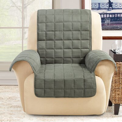Box Cushion Recliner Slipcover Color: Loden